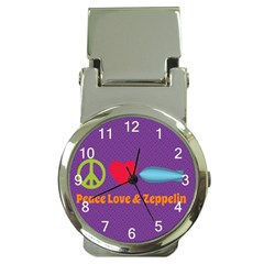 Peace Love & Zeppelin Money Clip with Watch