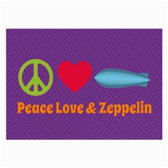 Peace Love & Zeppelin Glasses Cloth (Large, Two Sided)