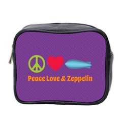 Peace Love & Zeppelin Mini Travel Toiletry Bag (two Sides)