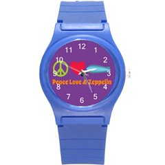 Peace Love & Zeppelin Plastic Sport Watch (Small)
