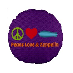 Peace Love & Zeppelin 15  Premium Round Cushion