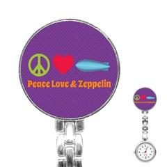 Peace Love & Zeppelin Stainless Steel Nurses Watch