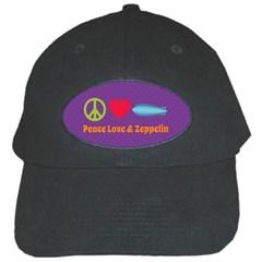 Peace Love & Zeppelin Black Baseball Cap