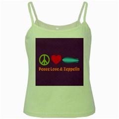 Peace Love & Zeppelin Green Spaghetti Tank