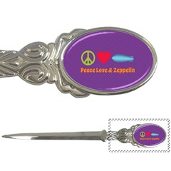 Peace Love & Zeppelin Letter Opener