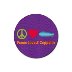 Peace Love & Zeppelin Drink Coasters 4 Pack (round)