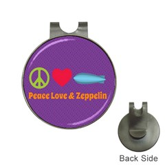 Peace Love & Zeppelin Hat Clip with Golf Ball Marker