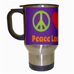 Peace Love & Zeppelin Travel Mug (white)