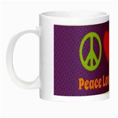 Peace Love & Zeppelin Glow In The Dark Mug
