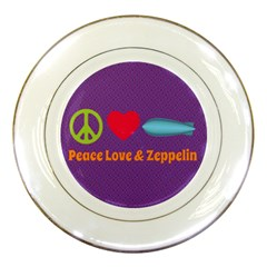 Peace Love & Zeppelin Porcelain Display Plate
