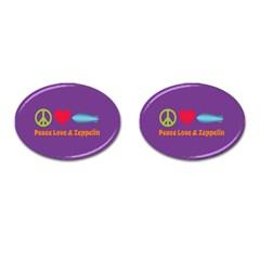 Peace Love & Zeppelin Cufflinks (oval)