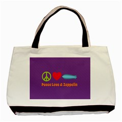 Peace Love & Zeppelin Twin Sided Black Tote Bag