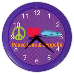 Peace Love & Zeppelin Wall Clock (Color)