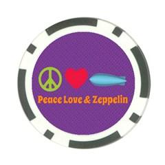Peace Love & Zeppelin Poker Chip