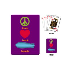 Peace Love & Zeppelin Playing Cards (mini)