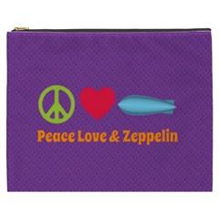 Peace Love & Zeppelin Cosmetic Bag (xxxl)