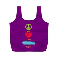 Peace Love & Zeppelin Reusable Bag (M)