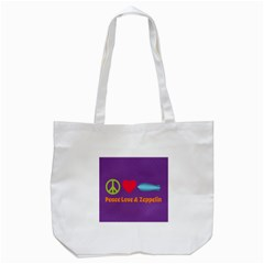 Peace Love & Zeppelin Tote Bag (White)