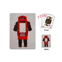 Big Foot In Phonebox  Playing Cards (mini)