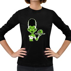 Frankie s Pin Up Women s Long Sleeve T-shirt (Dark Colored)