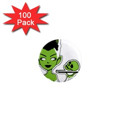 Frankie s Pin Up 1  Mini Button Magnet (100 pack)