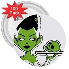 Frankie s Pin Up 3  Button (100 pack)