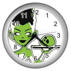 Frankie s Pin Up Wall Clock (Silver)