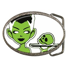 Frankie s Pin Up Belt Buckle (Oval)