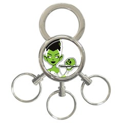 Frankie s Pin Up 3-Ring Key Chain
