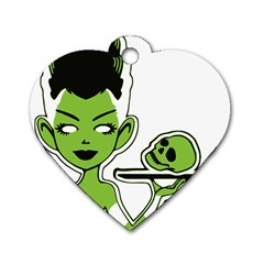 Frankie s Pin Up Dog Tag Heart (One Sided)