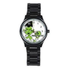 Frankie s Pin Up Sport Metal Watch (Black)