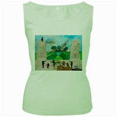 Kings, Past Lives, Women s Tank Top (green)