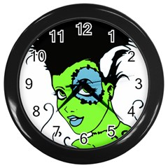 Frankie s Girl Wall Clock (Black)