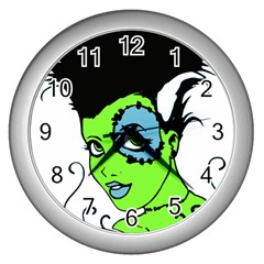 Frankie s Girl Wall Clock (Silver)