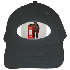 Big Foot & Phonebox  Black Baseball Cap