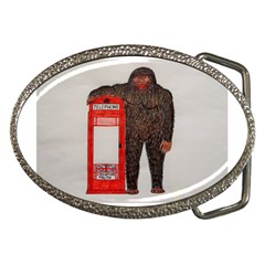 Big Foot & Phonebox  Belt Buckle (Oval)