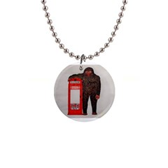 Big Foot & Phonebox  Button Necklace