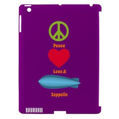 Peace Love & Zeppelin Apple Ipad 3/4 Hardshell Case (compatible With Smart Cover)