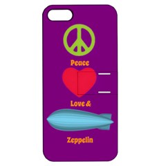 Peace Love & Zeppelin Apple Iphone 5 Hardshell Case With Stand