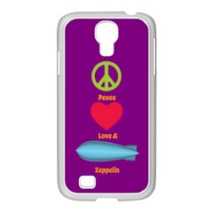 Peace Love & Zeppelin Samsung Galaxy S4 I9500/ I9505 Case (white)
