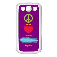 Peace Love & Zeppelin Samsung Galaxy S3 Back Case (white)