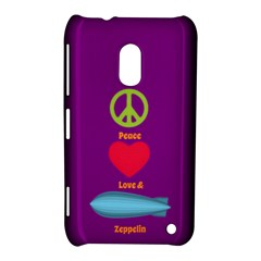 Peace Love & Zeppelin Nokia Lumia 620 Hardshell Case