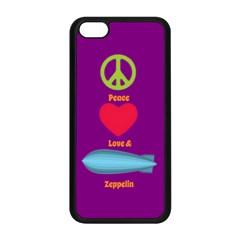 Peace Love & Zeppelin Apple iPhone 5C Seamless Case (Black)