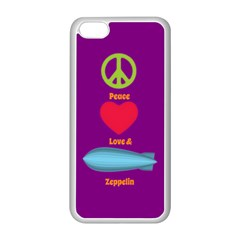 Peace Love & Zeppelin Apple iPhone 5C Seamless Case (White)