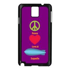 Peace Love & Zeppelin Samsung Galaxy Note 3 N9005 Case (black)