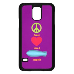 Peace Love & Zeppelin Samsung Galaxy S5 Case (Black)