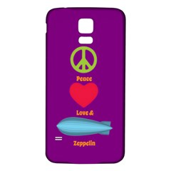 Peace Love & Zeppelin Samsung Galaxy S5 Back Case (white)