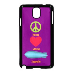 Peace Love & Zeppelin Samsung Galaxy Note 3 Neo Hardshell Case (Black)