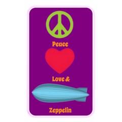 Peace Love & Zeppelin Memory Card Reader (rectangular)