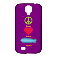 Peace Love & Zeppelin Samsung Galaxy S4 Classic Hardshell Case (PC+Silicone)